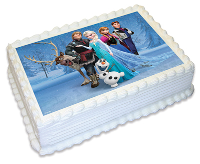 DISNEY FROZEN EDIBLE ICING IMAGE - GROUP