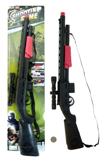 SUPER SHOOTING GAME RIFLE WITH SHOULDER STRAP