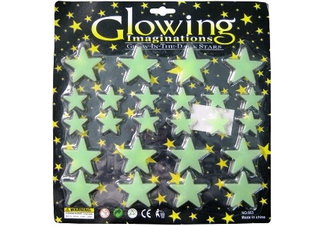 GLOW IN THE DARK STARS - PACK OF 25