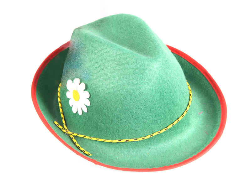 ALPINE MALE HAT - GREEN FELTEX WITH NO RED FEATHER -10 LEFT ONLY