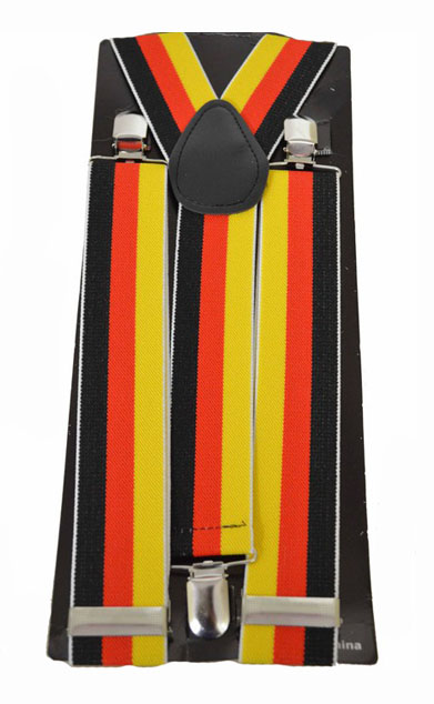 BRACES/SUSPENDERS - GERMAN FLAG COLOUR