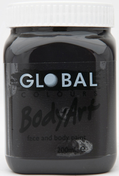 Image of Global 200ml Face Paint  Black