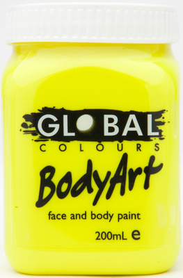 Image of Global 200ml Face Paint  Fluro Yellow