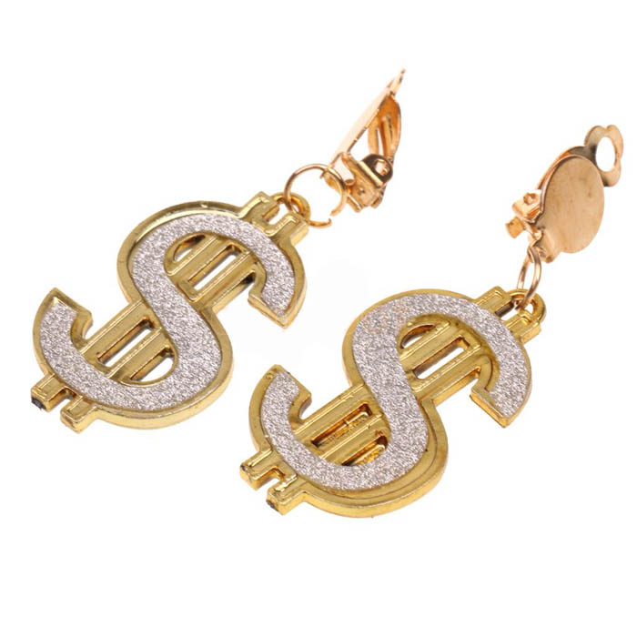 BLING DOLLAR SIGN $ EARRINGS