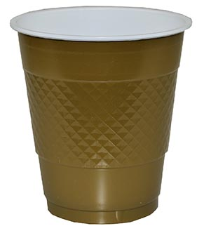 DISPOSABLE CUPS TWO TONE GOLD - PACK OF 20