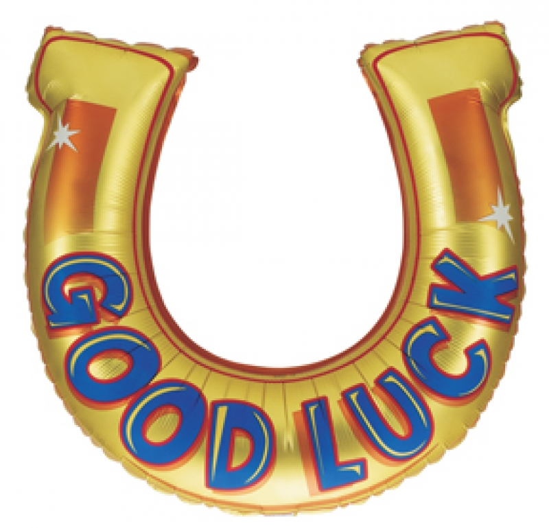 FOIL SUPER SHAPE BALLOON - GOOD LUCK HORSESHOE