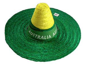 AUSSIE GREEN & GOLD STRAW HAT