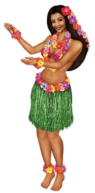 HULA POLYNESIAN GIRL - JOINTED FIGURE
