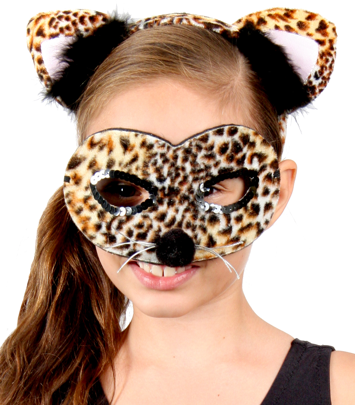 HEADBAND & MASK SET - LEOPARD