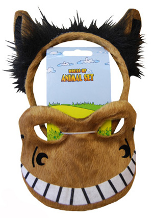 HEADBAND & MASK SET - HORSE