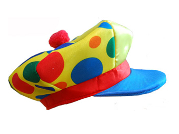 CLOWN JOCKEY CAP - MULTI COLOURED