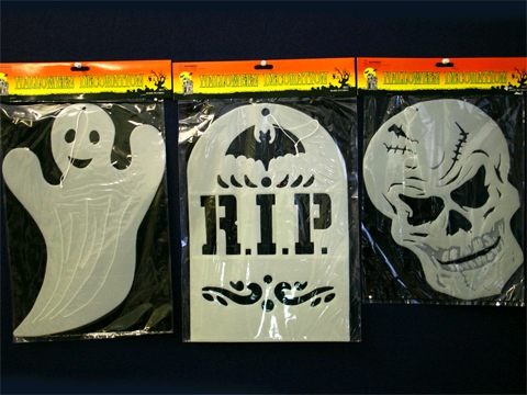 GLOW IN THE DARK PLAQUES - SET OF 3