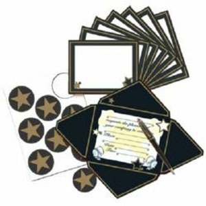 HOLLYWOOD PARTY INVITATIONS AND STAR SEALS