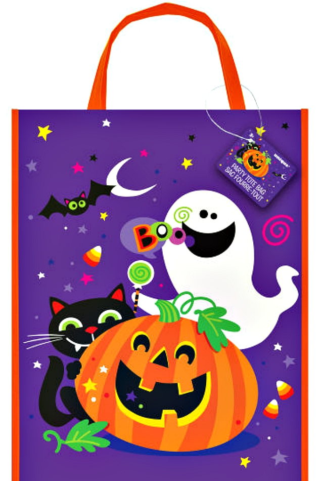 HALLOWEEN TRICK OR TREAT BAG WITH FRIENDLY FIENDS