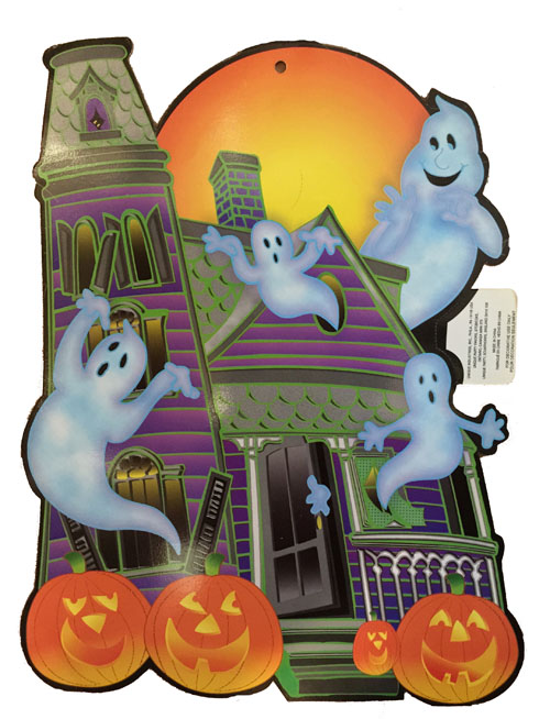 HALLOWEEN HAUNTED HOUSE CUT OUT