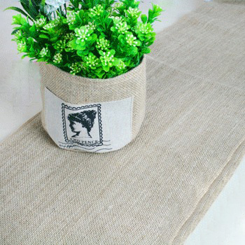 Natural Hessian Table Runner