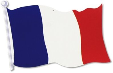 FRENCH FLAG CUTOUT