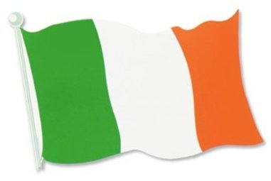 Image of Irish Flag Cut Out