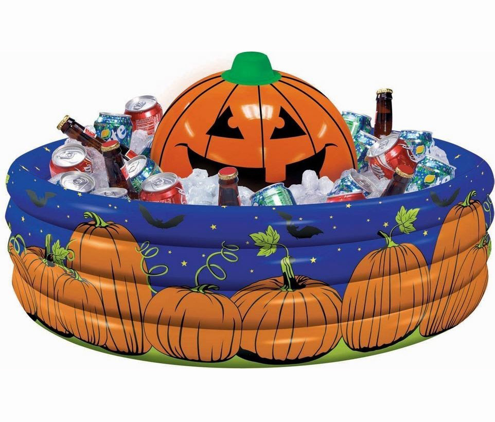 INFLATABLE DRINK COOLER - PUMPKIN