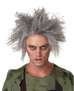 ZOMBIE WIG - GREY CRIMPED