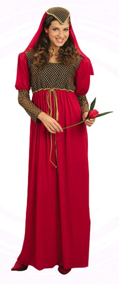 JULIET MEDIEVAL LADIES FANCY DRESS COSTUME