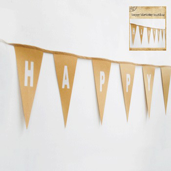 NATURAL KRAFT 'HAPPY BIRTHDAY' BUNTING