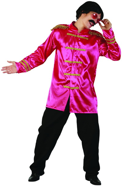 SARGENT PEPPERS/ ROCK STAR MILTARY STYLE HOT PINK JACKET
