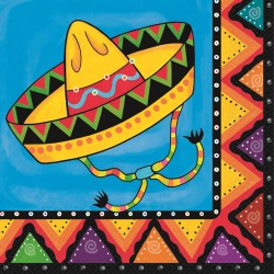 FIESTIVITY MEXICAN FIESTA LUNCH NAPKINS PACK OF 20
