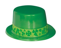 ST PATRICK'S DAY TOP HAT WITH SHAMROCK BAND