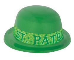ST PATRICK'S DAY DERBY BOWLER HAT - PACK OF 12