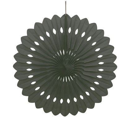 DECORATIVE FAN - BLACK 40CM
