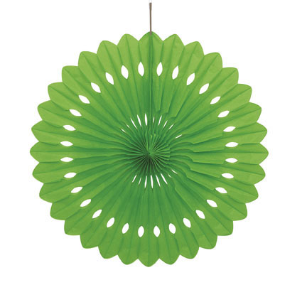 DECORATIVE FAN - LIME 40CM