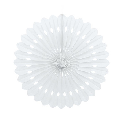 decorative fan - white