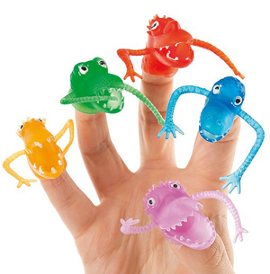 PARTY FAVOURS - MONSTER FINGER FRIGHTS PACK OF 5