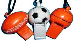 PARTY FAVOURS - SPORT BALLS WHISTLES PACK OF 3