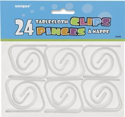 TABLECOVER CLIPS - CLEAR PACK OF 24
