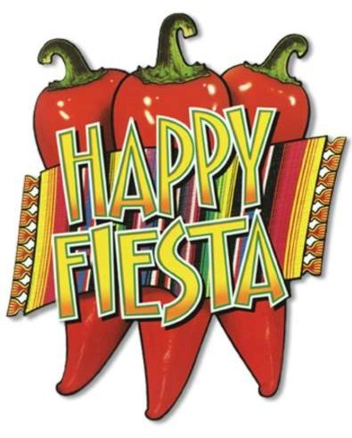 MEXICAN CHILLI 'HAPPY FIESTA' CUT OUT