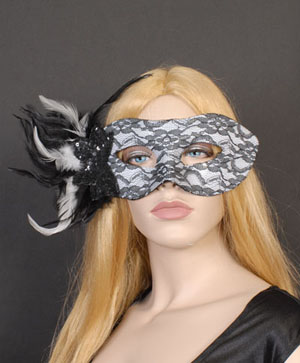 MASK - BLACK AND WHITE LACE