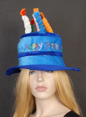 Image of Birthday Candle Hat  Blue