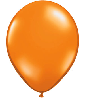 BALLOONS LATEX - MANDARIN ORANGE JEWEL TONE PROFESSIONAL PK 100