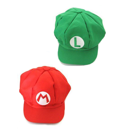 MARIO AND LUIGI BASEBALL/ TRUCKER CAPS