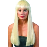 LONG BLONDE LOVE CHILD WITH FRINGE WIG