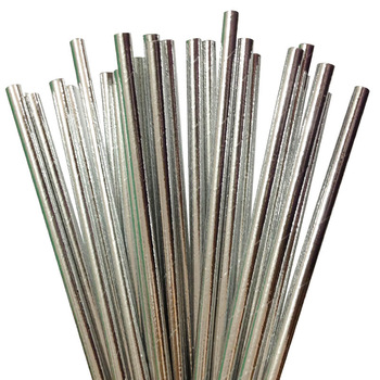 STRAWS - SILVER FOIL PACK OF 24