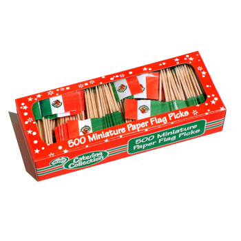 MEXICAN FLAG PICKS PACK OF 500