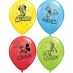BALLOONS LATEX - MICKEY MOUSE 1ST BIRTHDAY PK 10 - BLUE & GREEN