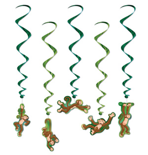 JUNGLE MONKEY WHIRLS - PACK OF 5