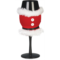 MR SANTA CLAUS WINE GLASS COOLER