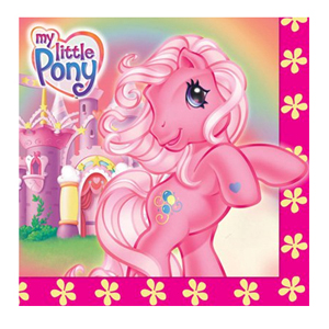 MY LITTLE PONY NAPKINS - PACK OF 16 - 1 LEFT ONLY