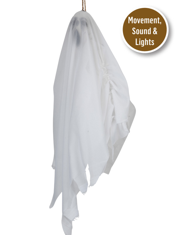 MINI HANGING GHOST WITH MOVEMENT, SOUND & LIGHTS