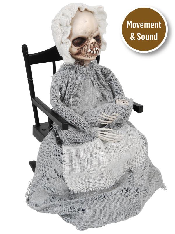 animated Hazel rocking the baby with sound